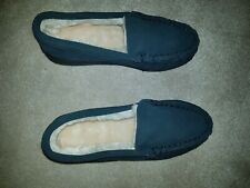 BRAND  NEW MENS REAL SUEDE MOCCASINS WARM COMFY SLIPPERS, SIZE 7