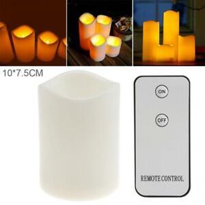 7.5x10CM Flameless Votive Candles Flickering LED Tea Light W/ Remote Control