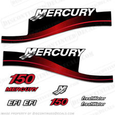 Mercury 150hp EFI Freshwater Series Outboard Decal Kit 1999-2004 - RED