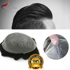 Ultra Thin Skin V-Loop PU Invisible Hairpiece Wigs Men Toupee Human Hair System