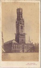 Beffroi de Bruges Belgique Photo Braun Cdv Vintage albumine