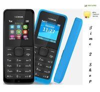 Nokia 105-NOIR DOUBLE SIM débloqué Poussière Gratuit TéléPhone Portable