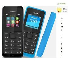 Brand New Nokia 105-BLACK DUAL SIM (Unlocked) Dust Free Mobile Phone Cheap Basic
