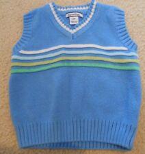 Boys Kitestrings Hartstrings Blue Sweater Vest Size 12 months EUC
