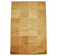 Cowskin Carpet Light Brown Patchwork 47 3/16x31 1/2in Cowhide Rug Red