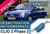Clé de désactivation d'anti démarrage Renault CLIO 2 PHASE 2