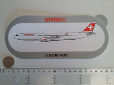 STICKER AIRBUS AUTOCOLLANT A330 300 SWISS AIR AIRLINES AUFKLEBER SUISSE NEUF NEW