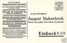2581/ Werbe AK, Einbeck, August-Stukenbrock Fahrradfabrik, ca. 1930