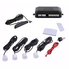 Car 4 White Sensors LED Display Sound  Alert Alarm Radar System Parking  Sensor