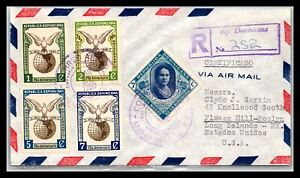 GP GOLDPATH: DOMINICAN REPUBLIC COVER 1950 REGISTERED LETTER AIR MAIL _CV593_P02