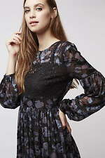 Topshop Chiffon Party Long Sleeve Dresses for Women