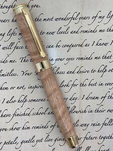 Handcrafted Fountain Pen - Australian Tasmanian Oak Wood