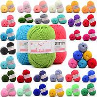 colors 50g Soft Bamboo Crochet Knitting Yarn Cotton Baby Knit Wool Yarn U87
