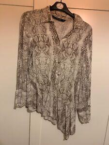Zara snake print shirt