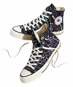 Converse Chuck Taylor (Chuck 70 Hi) Shoes Black Paint Men's Size 9 New 170801C ⭐