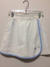 Dunlop Tennis Skirt Skort White W/ Baby Blue Trim Size 26 XS