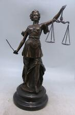 Bronze Statue Lady Justice Scales - Gift Legal Profession/Lawyer/Solicitor 38cm