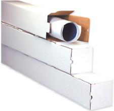 Square Mailing Tubes White Corrugated Poster Document Storage Shipping Tube Box