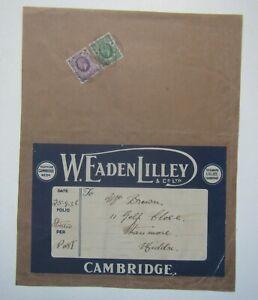 Old 'W.Eaden Lilley & Co, Cambridge' Address Label 1936