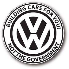 Round VW Genuine Emissions EPA Diesel Dieselgate TDI Decal Sticker Parody 4 fun