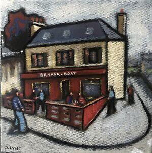 Tableau Peinture Bretagne Douarnenez Bar Tourrier