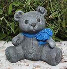 Steinfigur Teddybär Dekofigur Gartenfigur Gartendeko Steinguss frostfest