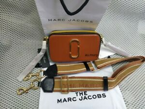 NWT Genuine Marc Jacobs Snapshot Small Camera Bag Crossbody brown sales.