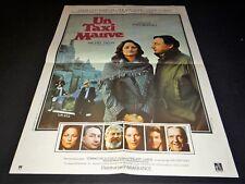 UN TAXI MAUVE Yves Boisset CHARLOTTE RAMPLING Philippe  affiche cinema 1977