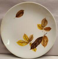 Johnson Bros Australia Autumn Leaves Pattern White Plate c1970s 22cm Diameter