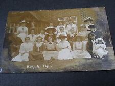 Old real photo postcard Ipstones school staff Staffordshire 1911