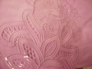 """Crochet Vinyl Lace Tablecloth Round 72"""" Lavender Purple New in Package Free Ship"""