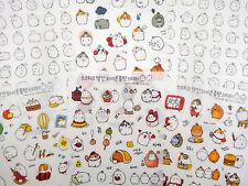 SIX pages Korean Molang bunny rabbit stickers! Kawaii chubby mochi bunnies, cute