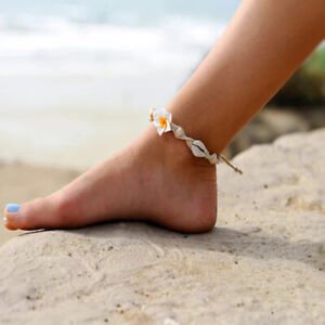 Beach Flower Shell Anklets Women's Accessories Jewelry Flower Shell Foot Chain