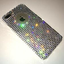 For iPhone X 10 - Cut Out Logo Bling Back Case made w/ Clear Swarovski Crystals