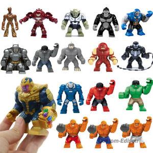7.5CM Super Hero Big Size Mini Figures Venom Hulk Rhino Spiderman Top Quality