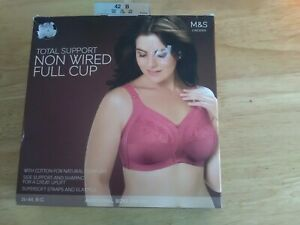 Marks and Spencer Total Support Non Wired Full Cup Bra 42B New