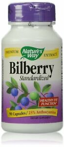 Nature's Way Bilberry Standardized Capsules, 90 Ct (Pack of 12)