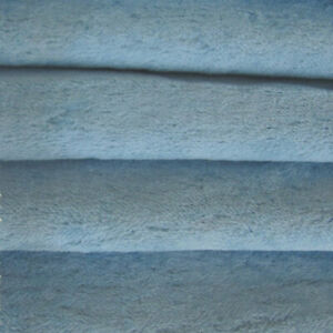 "1/4 yd VIS1 Bluebell INTERCAL 6mm ""Flat"" Med. Dense German Viscose Fur Fabric"