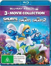Smurfs: The Lost Village / The Smurfs / The Smurfs 2 NEW B Region Blu Ray