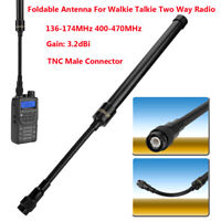 TNC Head Radio Walkie Talkie Handheld Two Way Radio Tactical Gooseneck Antenna