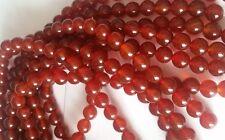Carnéol Semi Précieux gemme perles 8 mm ronde ~ Full Strand ~ Grade A