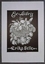 Exlibris Oliveira für Selle / Blumen