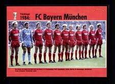 FC Bayern München Mannschaftskarte DFB Pokalsieger 1984 TOP
