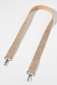 NEW Anthropologie Remy Cheetah Bag Strap Calf Hair Animal Print Pattern Tan