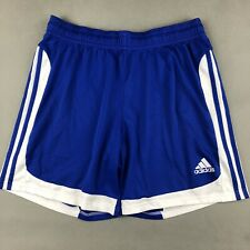 Adidas Blue Athletic Soccer Shorts Adult Large  Little Fabric Snags
