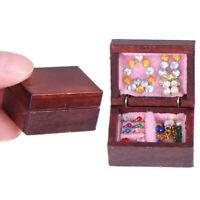 Boîte à bijoux Miniatures Dollhouse Accessoire de décor de chambre de poupée1/12
