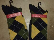 NWT NEW Merona Mens 2 Pairs Dress Socks Argyle