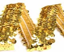 Paillettenborte 30 mm 3 cm Paillettenband elastisch CINDY Farbwahl Karneval Deko