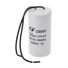 CBB60 20uF Wire Lead Cylinder Motor Run SH Capacitor AC 450V C6H6