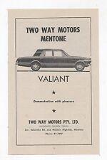 1965 AP5 Valiant Chrysler Two Way Motors Original Advertisement from a Catalogue